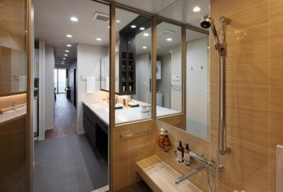 浴室・洗面室 (石と木がつくる趣の家)