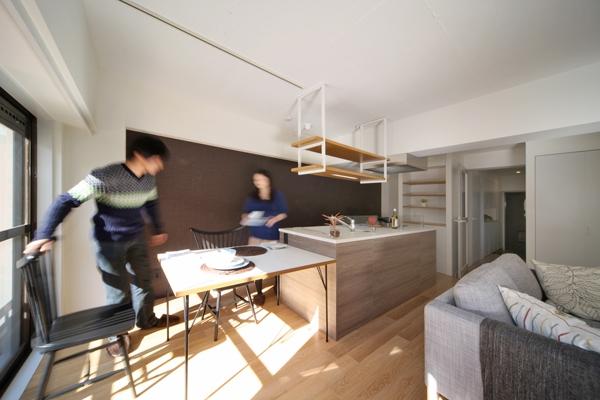 ヒガシテラオの部屋 アイランドキッチン