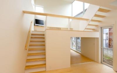 段差をたのしむ家 (段差をたのしむ家_LDK1)