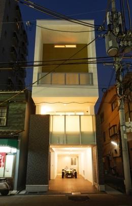 上本町の家(ガレージハウス) (外観)