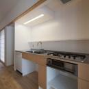 壁に組み込んだキッチン