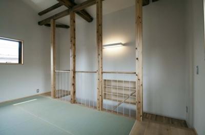 2階フリースペース (石引の家|築30年の住宅をガルバリウムで軽量化)