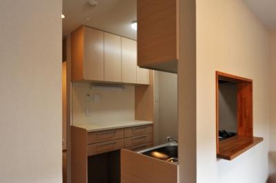 代田の家改修ー築60年の住宅を二世帯へスケルトンリフォーム (母世帯のキッチン)