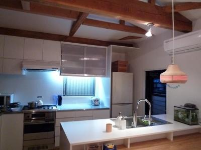 築28年の家を購入しリノベーション 籠原の家 (キッチン after)