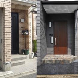 用賀の家改修 (玄関)