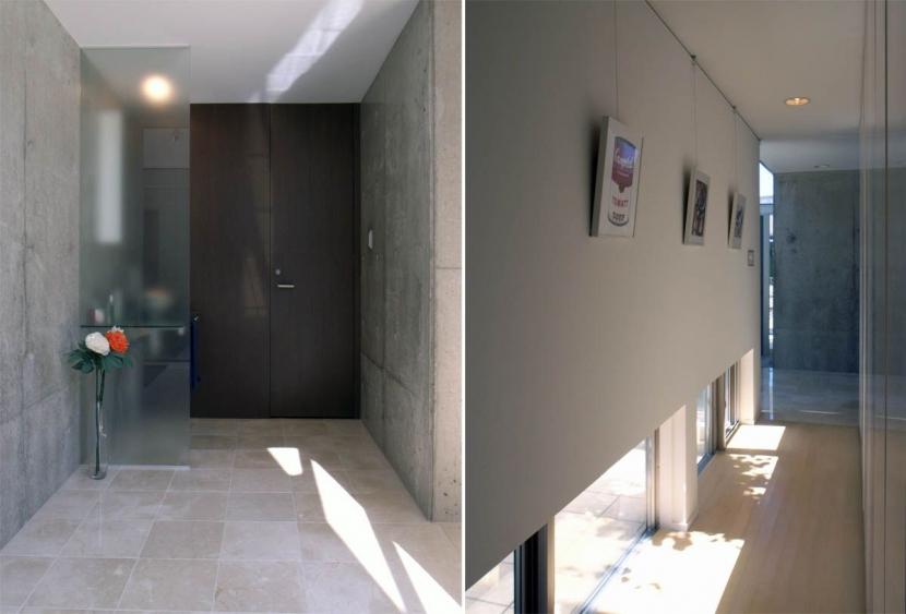久安の家|プライベートな外部空間を持つ家の写真 玄関ホール