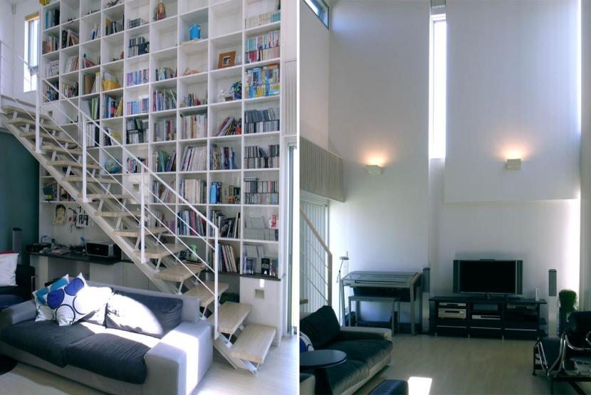 久安の家|プライベートな外部空間を持つ家の写真 リビング