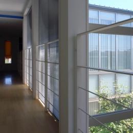 久安の家|プライベートな外部空間を持つ家 (廊下)