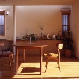 1、2階で住み分ける完全分離型の2世帯住宅 (親世帯ダイニング)