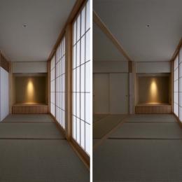 たたみ廊下 (南砺市の家|砺波平野に建つ夫婦二人のための平屋住宅)
