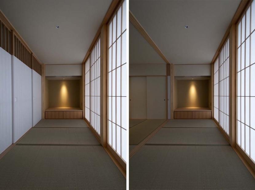 南砺市の家の部屋 たたみ廊下