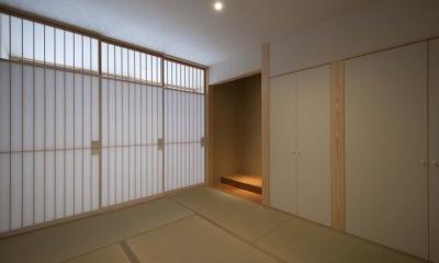 南砺市の家|砺波平野に建つ夫婦二人のための平屋住宅 (和室)