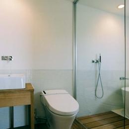 大桑のゲストハウス|混構造の小さなゲストハウス (開放的なバス・トイレ)