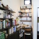 リビングの書斎コーナー