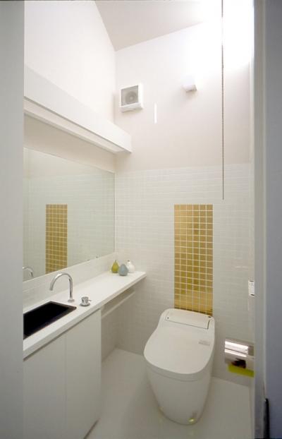 子世帯のトイレ (ふたつの家族と中庭の家 〜つかず離れず適度な距離感の二世帯住宅。だけじゃない!〜)