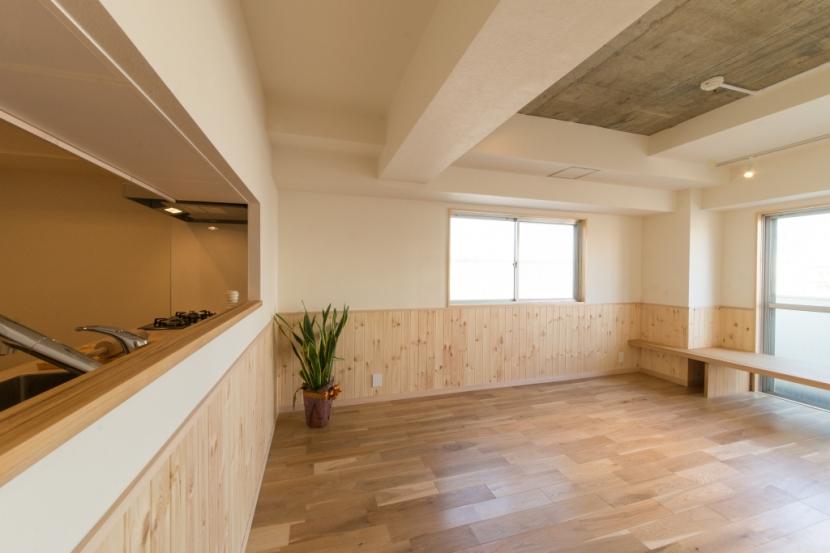 自然素材に囲まれたワンちゃんとの暮らし『Organic Styleリノベーション』の部屋 ダイニング