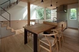 スキップフロアの家 (スキップフロアの家_ダイニングキッチン2)