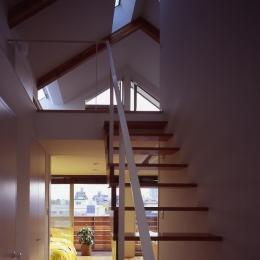 1、2階で住み分ける完全分離型の2世帯住宅 (階段)