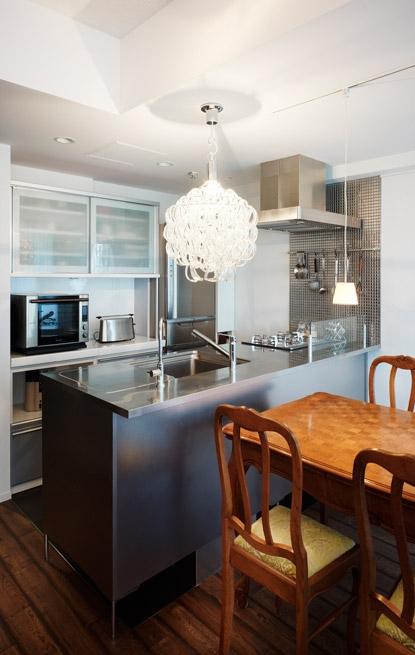 ヴィンテージマンションらしい趣をの写真 キッチン