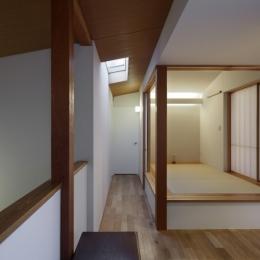 落ち着きと明るさの2世帯住宅 (子世帯和室)