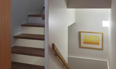 落ち着きと明るさの2世帯住宅 (階段)