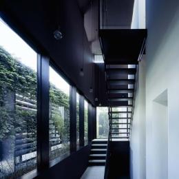 スキマのある家 (垂直の庭を持つ玄関)