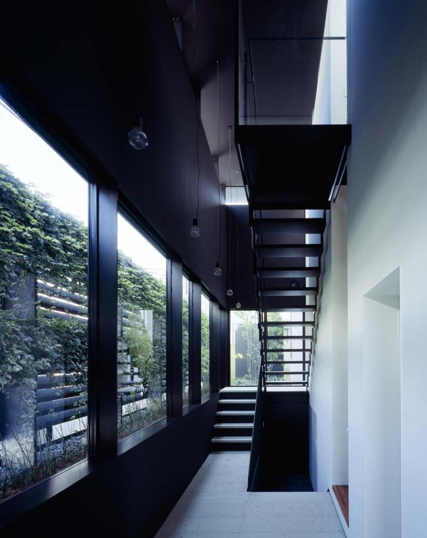 スキマのある家の写真 垂直の庭を持つ玄関