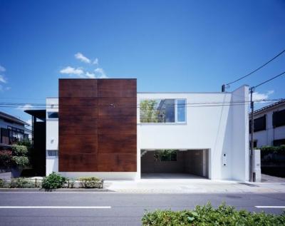 スキマのある家 (鉄板の壁のある外観)
