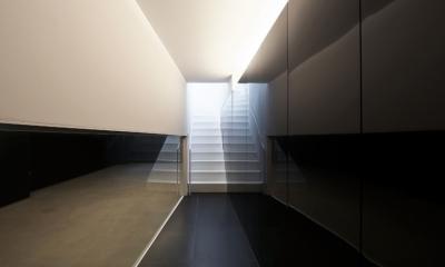 湯里の家 (玄関ホール、階段)