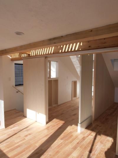 3階ロフトのある共有スペース (エアコンのない家)