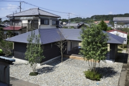 下北方の家/宮崎市の住宅 (南面全景)