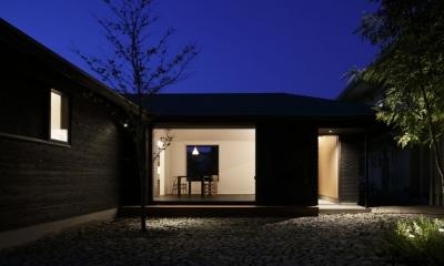 下北方の家/宮崎市の住宅 (南側夜景)