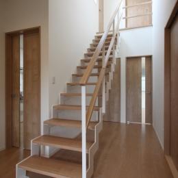 川崎市I邸:中古住宅全面リフォーム (階段ホール)