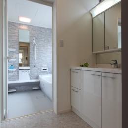 洗面浴室 (川崎市I邸:中古住宅全面リフォーム)