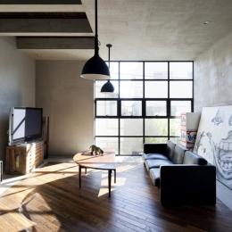 渋谷の住宅-リビング