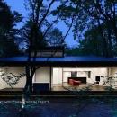 018軽井沢Cさんの家の写真 外観夕景