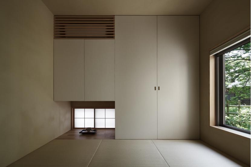 緑陰を愉しむ家の部屋 和室
