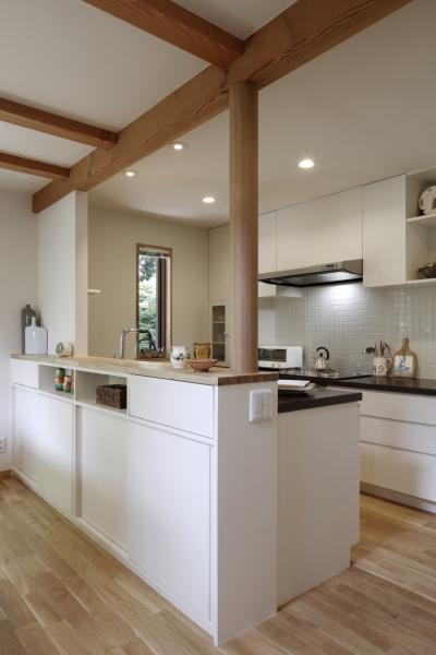 緑陰を愉しむ家 (キッチン)