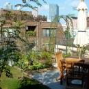 家庭菜園を中心にした屋上庭園