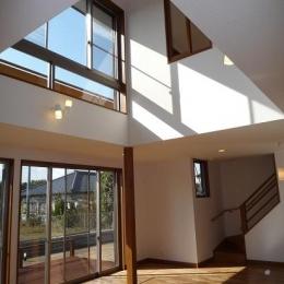 建築家 由比清隆/アトリエ・K建築設計工房/山口の事例「太陽の光で満ち溢れた吹き抜け空間のあるエコキュートの家」
