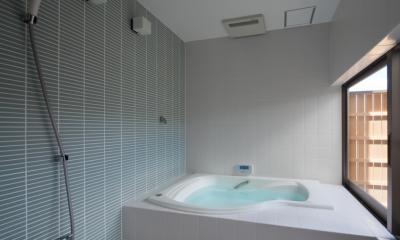 浴室 連屋根の家
