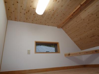2階ロフト (家族のための大空間と蔵のある家)