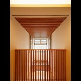 中百舌鳥の家 (2階廊下から見た吹抜)