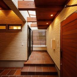 玄関ポーチと天窓 (中百舌鳥の家)