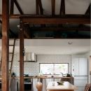 サブウェイタイルとキッチン