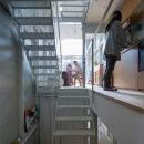 『』の家|鉄骨狭小スキップフロアのガレージハウス【大阪市】の写真 スキップフロア