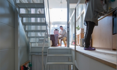 スキップフロア|『』の家|鉄骨狭小スキップフロアのガレージハウス【大阪市】