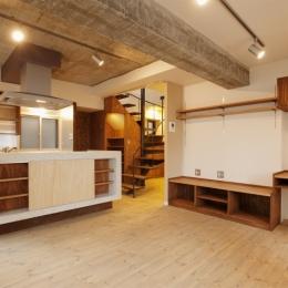 I邸・昭和時代の喫茶店のようないえ (LDK)