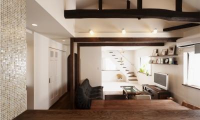 SE邸・実家の2階が大変身 大好きなインテリアで楽しく住もう (リビングダイニング)