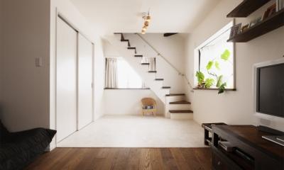 SE邸・実家の2階が大変身 大好きなインテリアで楽しく住もう (リビングと階段)
